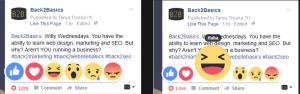 FB post Emoji