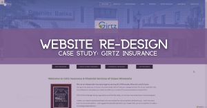 Web design case study of Girtz Insurance