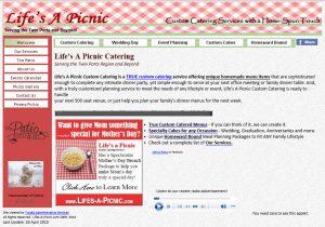 Life's a Picnic website 2011