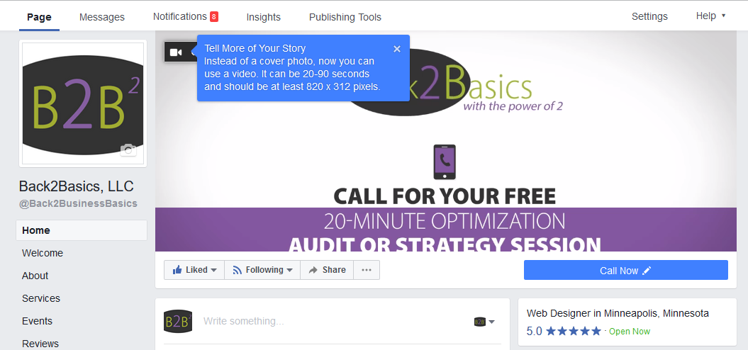 FB Business Pg Video