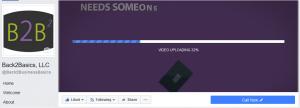 FB video uploading