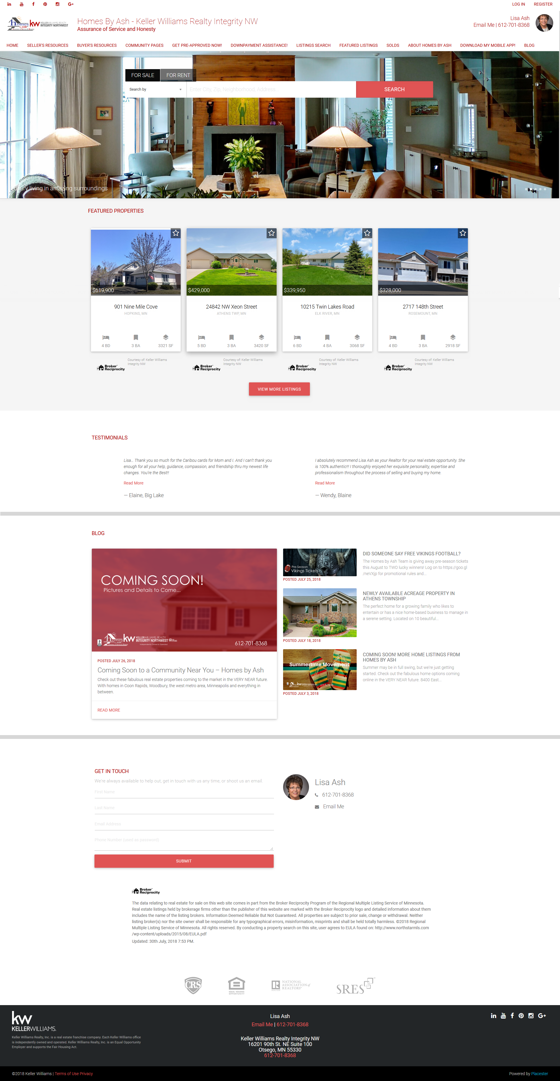 Homes by Ash website 2018