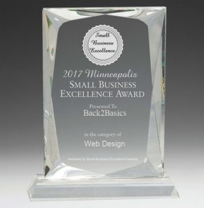 B2B 2017 Small Business Excellence for Web Design
