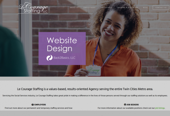 LeCourage Staffing Web Design Project