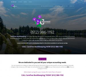 Bookkeeping website design by Back2Basics