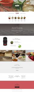 Georgies Custom Catering website home page