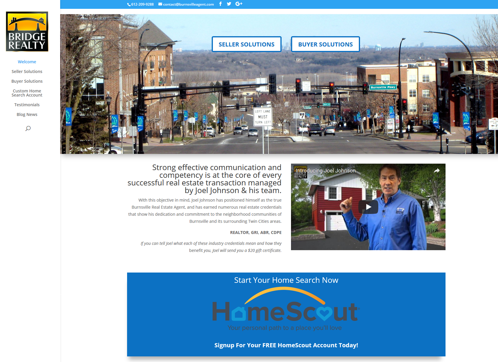 Joel Johnson real estate website