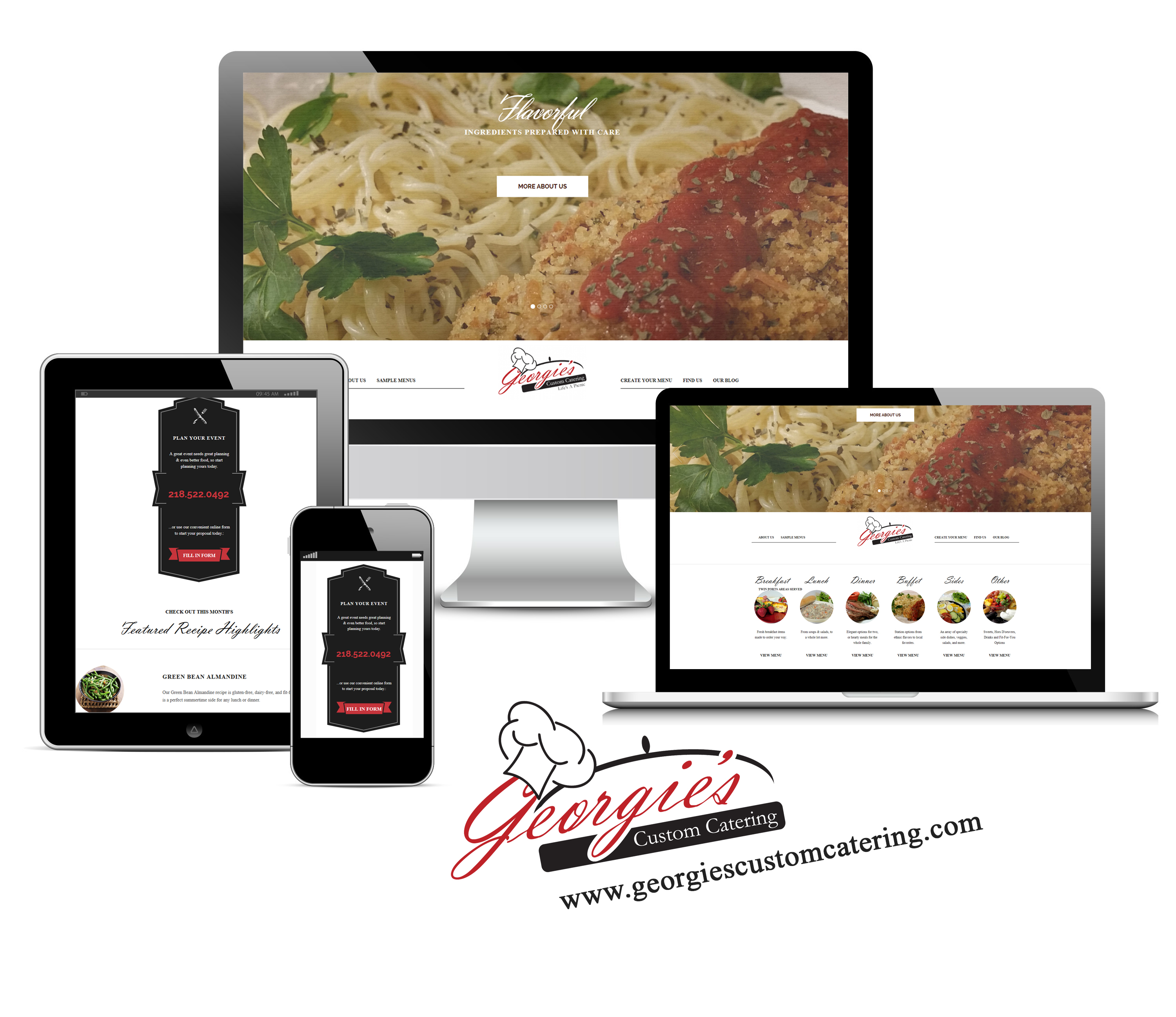 Georgies Custom Catering Design set by Back2Basics