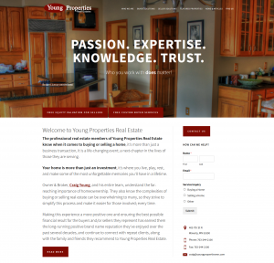Young Properties Real Estate website design