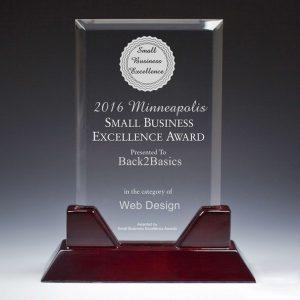 Back2Basics 2016 Minneapolis Small Business Excellence Award