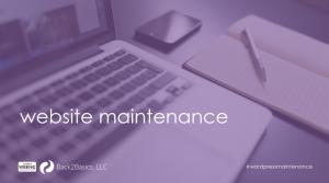 Wordpress web site maintenance