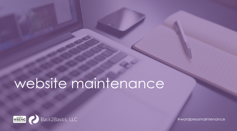 Wordpress web site maintenance