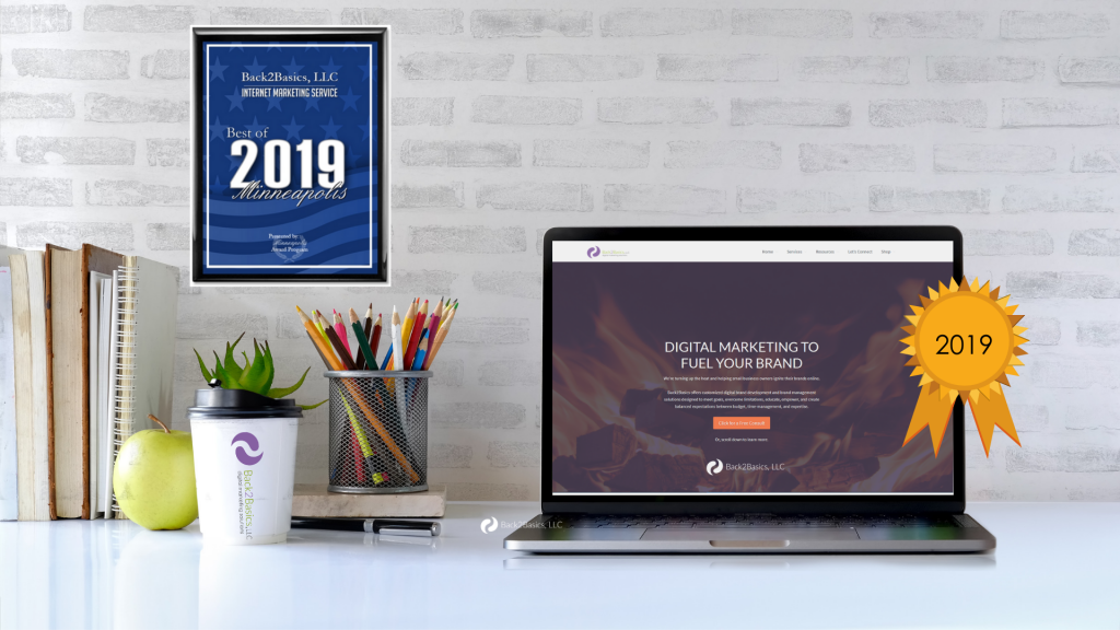Back2Basics Named Minneapolis Best of Internet Marketing 2019