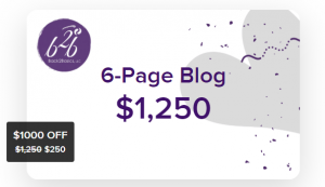 Discounted 6-Page Blog from Back2Basics