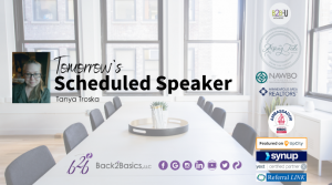 Tanya Troska - Tomorrow's Scheduled Speaker