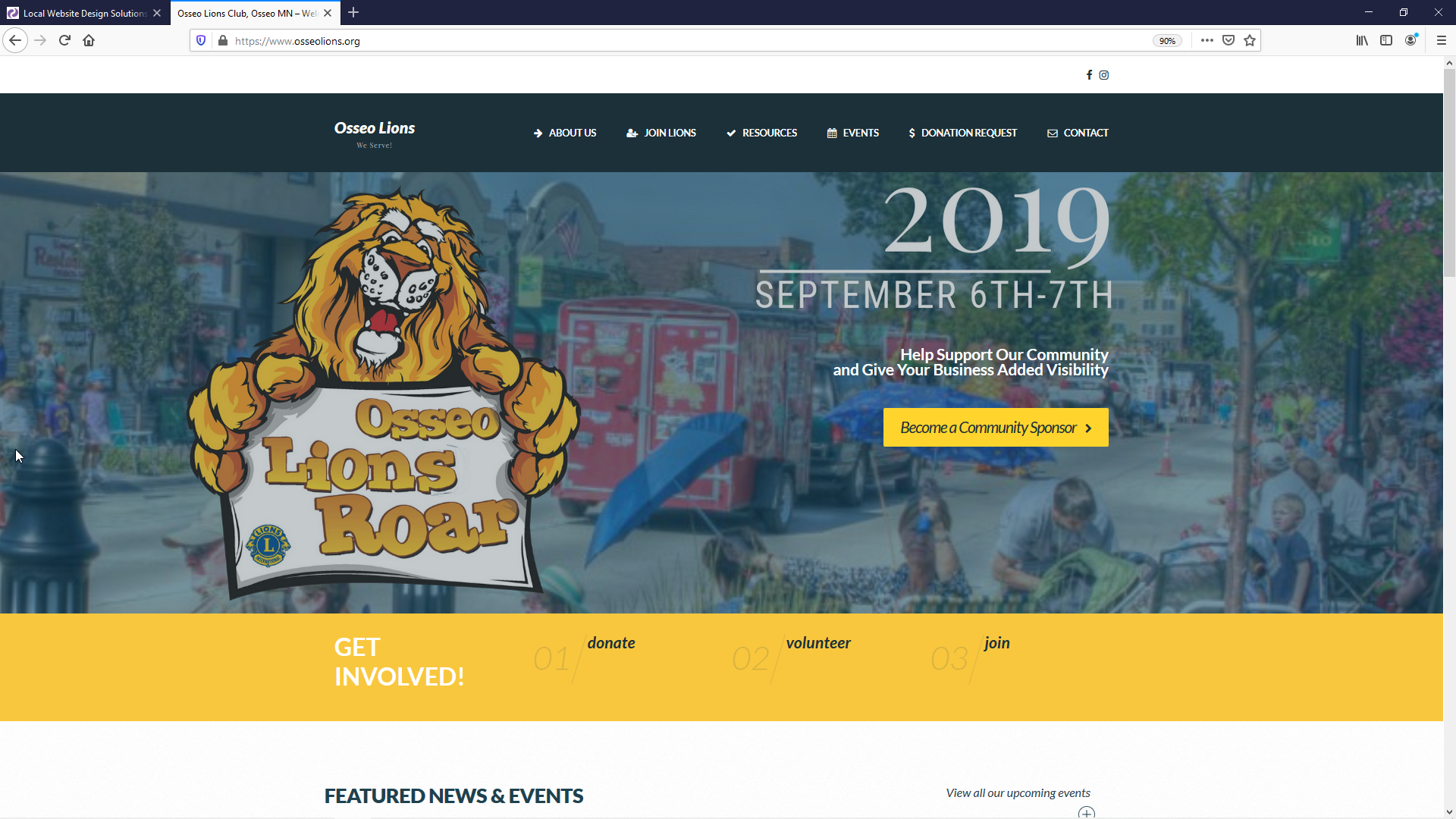 Osseo Lions Club Website Design