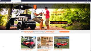 Roach Golf Cars Website Design