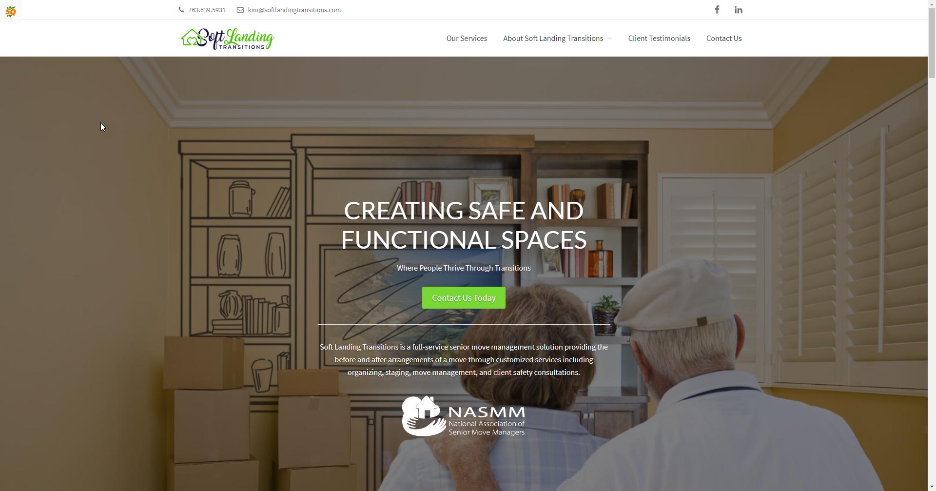 Soft Landing Transitions Website Design