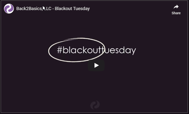 Back2Basics blackouttuesday #blackouttuesday June 2020
