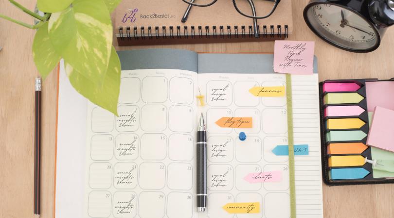 Back2Basics Social Calendar Planning