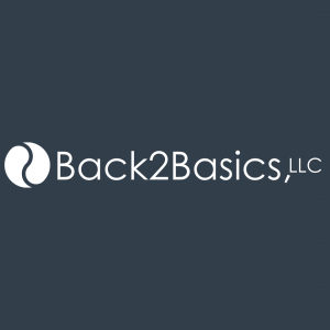 Back2Basics, LLC - logo long 2021 - slate box