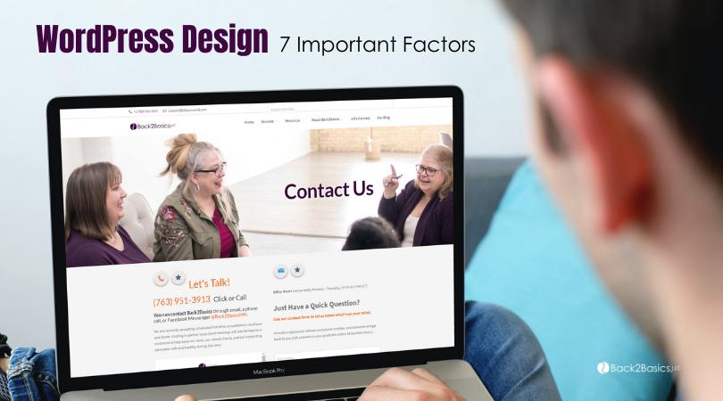 WordPress Website Design Factors to Consider